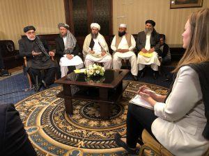 Taliban, Afghan government representatives meet in Moscow, Russia, 9 Nov 2018 (Image credit @MFinoshina_RT)