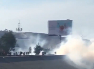 U.S.-Mexico border near Tijuana where migrants are attempting to breach fence