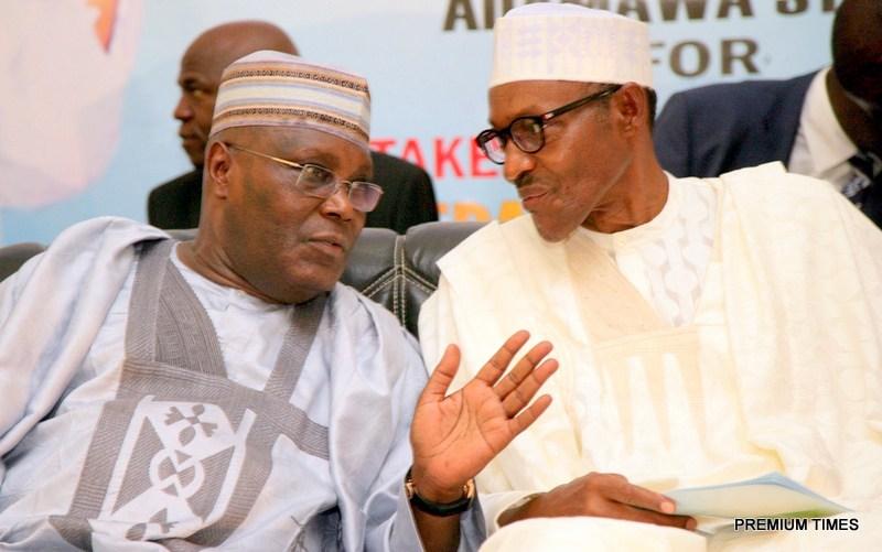 Atiku Abubakar (L) and Muhammadu Buhari