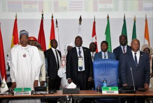 ECOWAS leader meet in Abuja for the body's 54th Ordinary Summit, 22.12.2018 (Image credit www.ecowas.int)