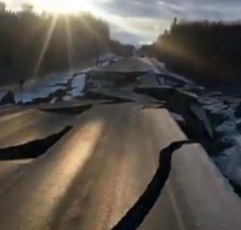 Earthquake in Alaska, United States, Nov., 30, 2018