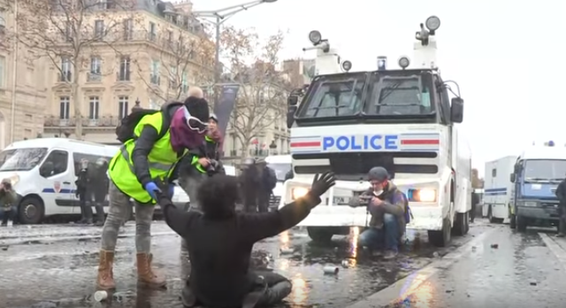 'Yellow Vest' protest in France, 01.12.2018