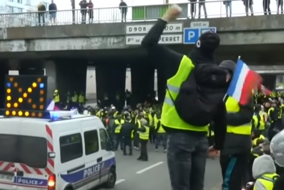 'Yellow Vest' protest in France, December 2018