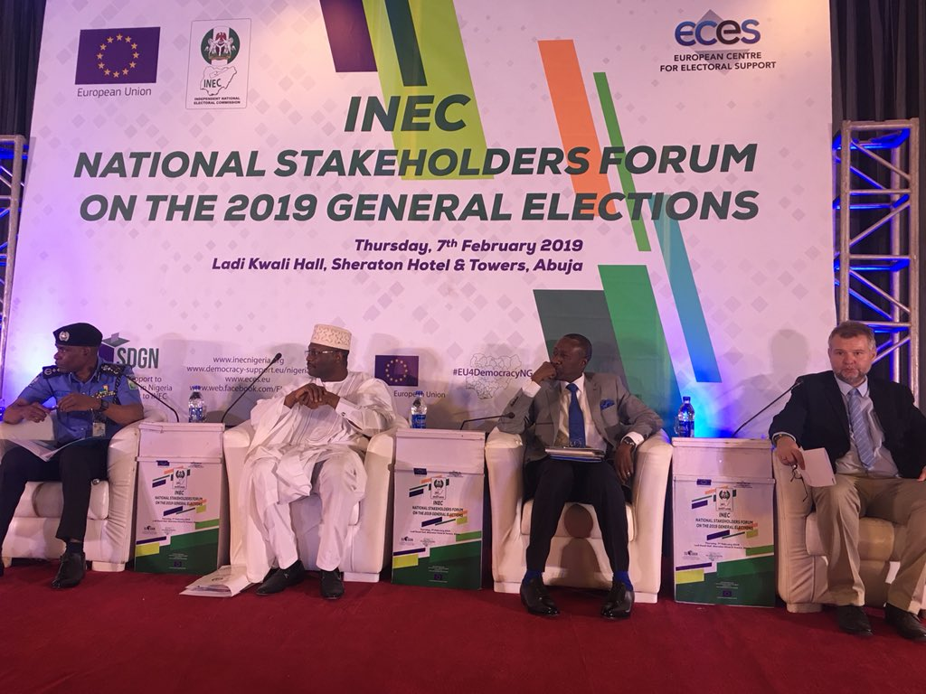 National Stakeholders Forum organised by INEC, 7 Feb 2019