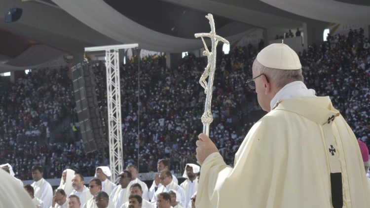 Pope Francis at Mass in the UAE (Vatican Media)
