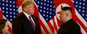 U.S. President Donald Trump and North Korean leader Kim Jong Un meet in Vietnam, Feb 2019
