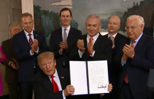 U.S. Officially Recognizes Golan Heights As Israeli Territory, 25 March 2019