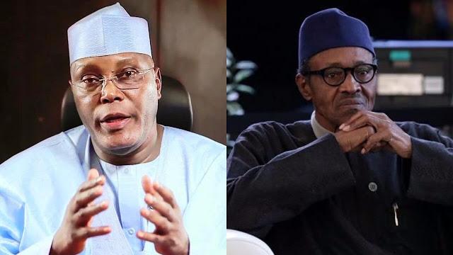 Atiku Abubakar (L) & Muhammadu Buhari