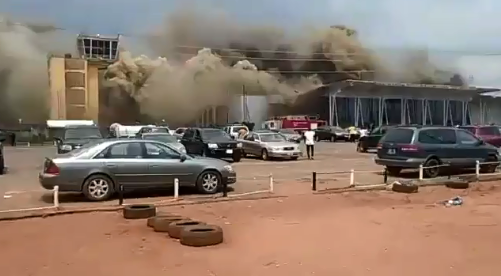 Fire incident at Sam Mbakwe Int'l Airport, 08 April 2019