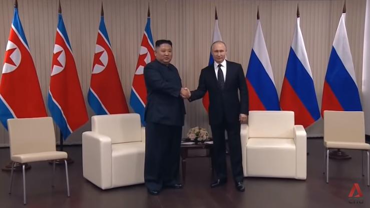 Kim Jong Un and Vladimir Putin meet at Vladivostok summit, April 2019