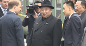 North Korea's leader Kim Jong-un arrives Vladivostok, Russia, 24 April 2019