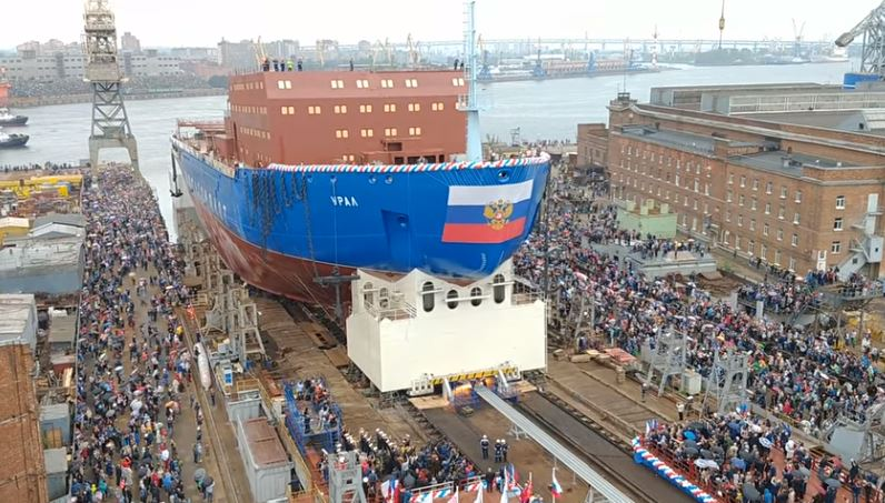 Russia floats third in class of nuclear icebreakers set to guide ships through Arctic, May 25, 2019