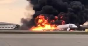 Sukhoi Superjet 100 plane crash, 5 May 2019