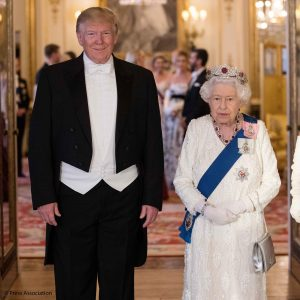 President Donald Trump with Her Majesty Elizabeth II at Buckingham Palace on 3rd June 2019.