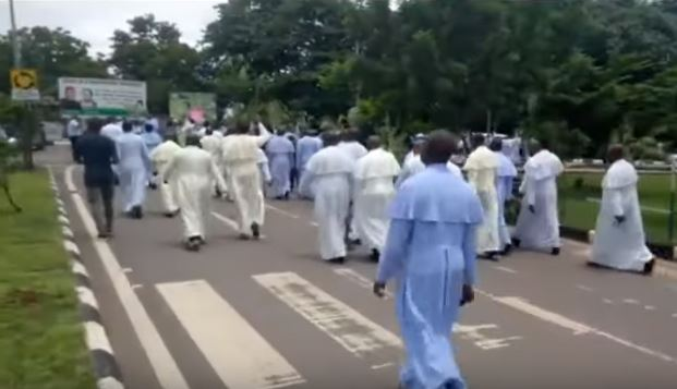 Catholic Priests In Enugu Diocese March To Govt. House, Protest Killing Of Colleague, 2 Aug 2019