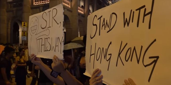 Hong Kong protesters, August 2019