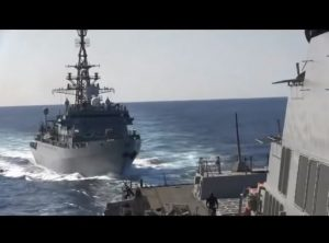 Russian and U.S. warships came close to collision in Arabian Sea, 10 Jan 2020