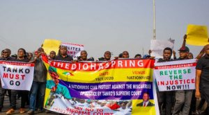 Thousands, IPOB March In Imo After Supreme Court Sacked Ihedioha As Governor & warns Uzodinma. (Image credit: This Day, Nigeria)