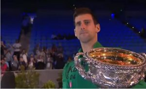 Novak Djokovic, the winner of the 2019 Australian Open