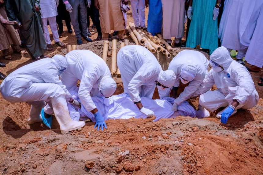 Abba Kyari's burial at Gudu Cemetry in FCT Abuja, 18 April 2020