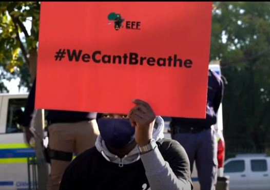 Black Lives Matter - South Africa's opposition party known as the Economic Freedom Fighters (EFF) during a protest on 8 June 2020.