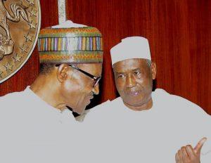 Muhammadu Buhari (L) and Isma'ila Isa Funtua