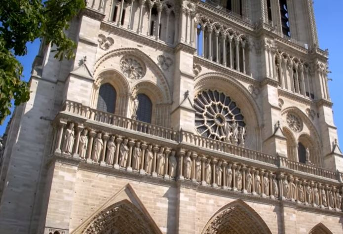 Notre Dame Cathedral in Paris, French Republic.