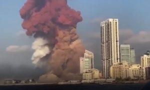 An explosion rips Beirut, Lebanon, 4 August 2020