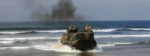 Marines on board an Amphibious Assault Vehicle (AAV)