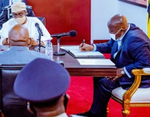 Nigeria's Speaker of House of Reps meets Ghanaian President