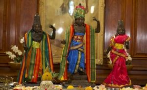 The three India sculpture illegally taken from a Temple in India in 1978. (Image credit Metropolitan Police)