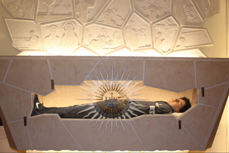 Carlo Acutis' tomb is opened for public veneration in Assisi, Italy, Oct. 1, 2020. Photos courtesy of Assisi diocese.