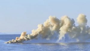 Fire at Sea: Rockets, guns and missiles lit up the Sea of Japan as part of Russian naval tests of a newly refitted frigate, December 2020
