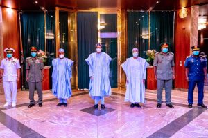 President Buhari meets with newly appointed service chiefs, 27 January 2021