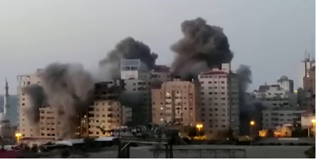 Israel attacks Gaza in retaliation after series of rockets were fired into Israeli territories by Hamas, May 2021