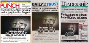 Front-page-of-Nigerian-Newspapers-on-Monday-July-12-2021. Image: www.premiumtimesng.com